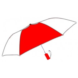 Personalized Red & White 42 inch Arc Windproof Vented Auto - Open Umbrellas