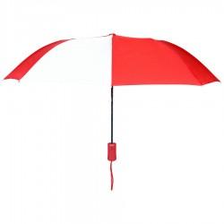 Personalized Red & White 43 inch Arc Pakman Umbrellas