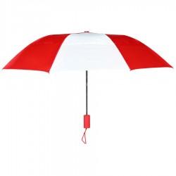 Personalized Red & White 43 inch Arc Raindrop Umbrellas