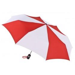 Personalized Red & White 43 inch Arc Totes Auto-Open/Close Umbrellas