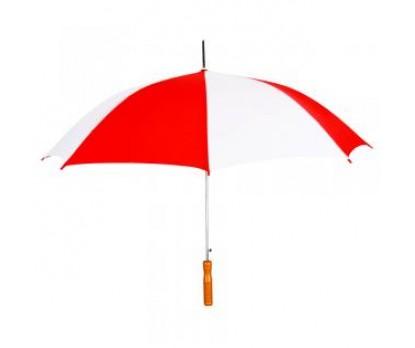 Personalized Red & White 48 inchAuto Open Logo Umbrellas