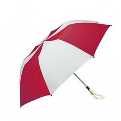 Personalized Red & White 58 inch Arc Traveler Auto- Open Umbrellas