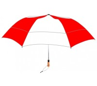 Personalized Red & White 58 inch Arc Vented Little Giant Folding Umbrella
