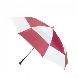 Personalized Red & White 68 inch Arc Totes Super Deluxe Premium Golf Umbrellas
