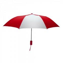 Personalized Red and White Mini 42 inch Arc Logo Umbrellas