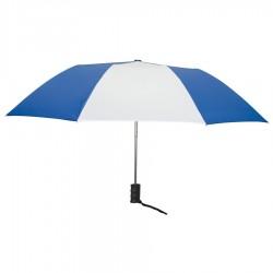 Personalized Royal Blue & White 42 inch Arc Auto Open Folding Umbrellas