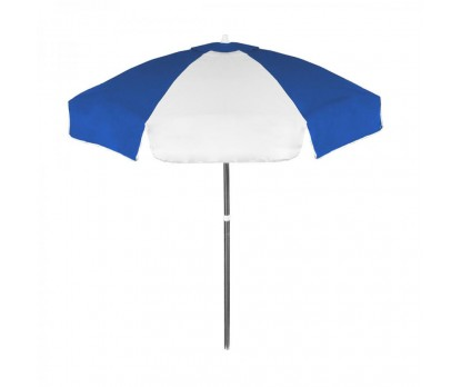 Personalized Royal Blue and White 6.5 ft Vinyl Patio/Cafe Umbrellas