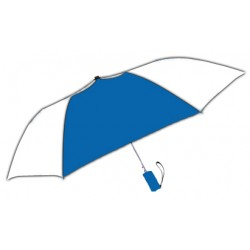 Personalized Royal & White 42 inchArc Windproof Vented Auto - Open Umbrellas