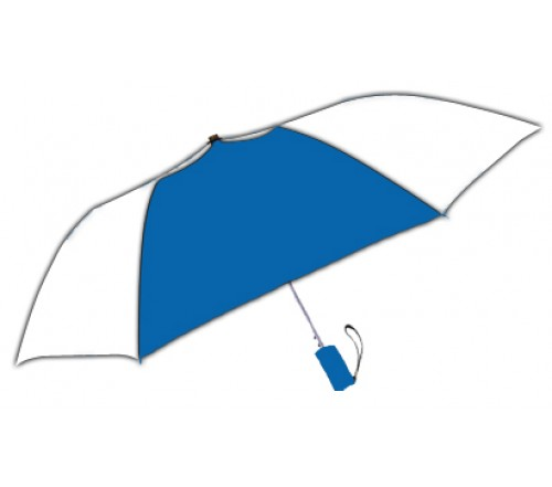 Personalized Royal White 42Arc Windproof Vented Auto Open Umbrellas