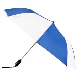 Personalized Royal & White 43 inch Arc Mist Umbrellas
