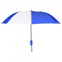 Personalized Royal & White 43 inch Arc Pakman Umbrellas