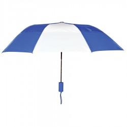 Personalized Royal & White 43 inch Arc Raindrop Umbrellas