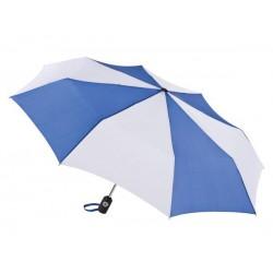 Personalized Royal & White 43 inch Arc Totes Auto-Open/Close Umbrellas