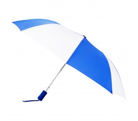 Personalized Royal & White 43 inchWind Logo Imprinted Umbrellas
