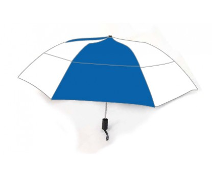 Personalized Royal & White 46 inch Arc Vented Grand Practicality Umbrellas