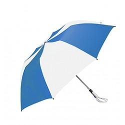 Personalized Royal & White 58 inch Arc Traveler Auto- Open Umbrellas