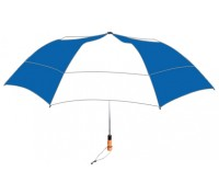 Personalized Royal & White 58 inch Arc Vented Little Giant Folding Umbrella