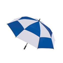 Personalized Royal & White 60 inch Arc Totes Stormbeater Golf Stick Umbrellas