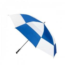 Personalized Royal & White 68 inch Arc Totes Super Deluxe Premium Golf Umbrellas