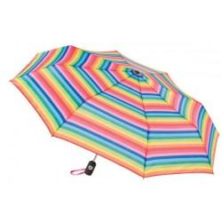 Personalized Stripes 43 inch Arc Totes Auto-Open/Close Umbrellas