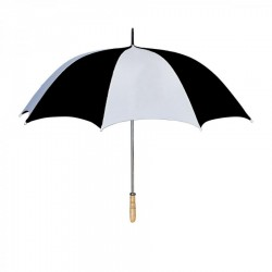 Personalized White & Black 60 inchArc Golf Umbrellas