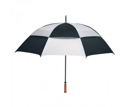 Personalized White and Black 68 inch Arc Vented Windproof Umbrellas