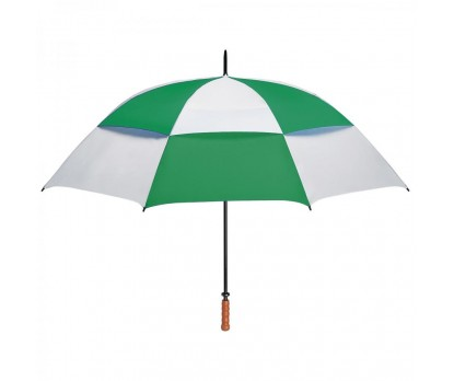 Personalized White & Green 68 inch Arc Vented Windproof Umbrellas