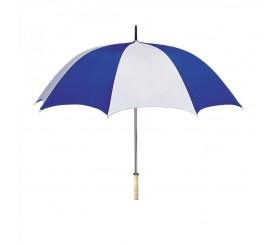 Personalized White & Royal Blue 48 inchArc Umbrellas