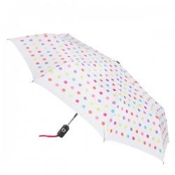 Personalized White/Polka Dot 43 inch Arc Totes Auto-Open/Close Umbrellas