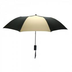 Promotional Black and Khaki Mini 42 inch Arc Logo Umbrellas