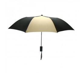 Promotional Black & Khaki Mini 42 inchArc Logo Umbrellas