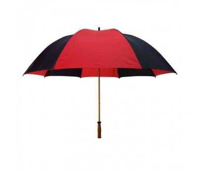 Promotional Black & Red 64 inchArc Mulligan Golf Umbrellas