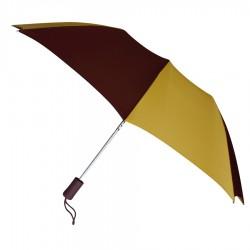 Promotional Burgundy & Gold 43 inchWind Logo Imprinted Umbrellas
