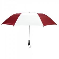 Promotional Burgundy & White 58 inchArc Vented Economy Umbrellas