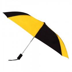 Promotional Gold & Black 43 inchWind Logo Imprinted Umbrellas