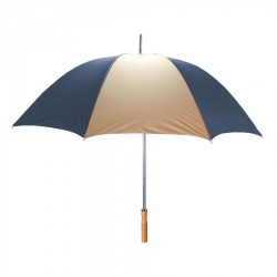 Promotional Navy & Khaki 60 inchArc Sport Golf Logo Umbrellas
