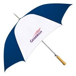 Promotional Navy & White 48 inchArc Auto-Open Fashion Umbrellas