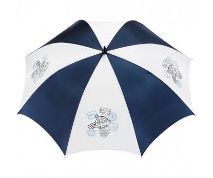 Promotional Navy & White 62 inchArc Golf Tour Logo Umbrellas