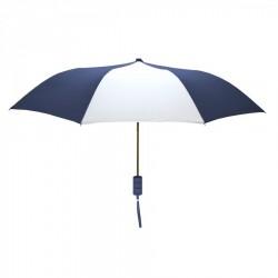 Promotional Navy and White Mini 42 inch Arc Logo Umbrellas