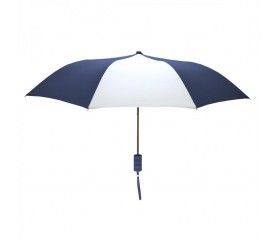 Promotional Navy & White Mini 42 inchArc Logo Umbrellas
