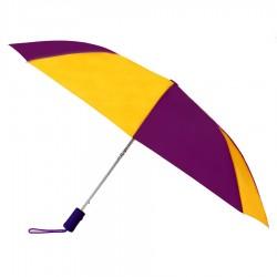 Promotional Purple & Gold 43 inchWind Logo Imprinted Umbrellas