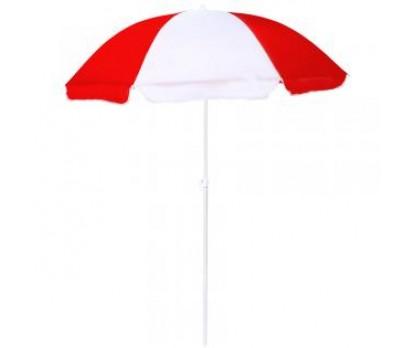 Promotional Red & White 72 inch Arc Beach Logo Umbrellas
