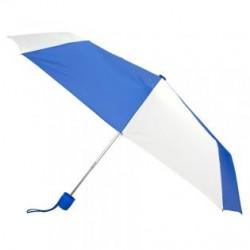 Promotional Royal Blue & White 43 inchManual Open Mini Fold Umbrellas