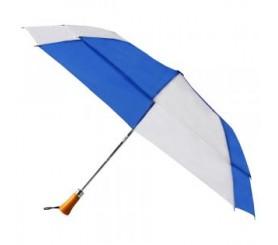 Promotional Royal & White 44 inchAuto Open Folding Umbrellas