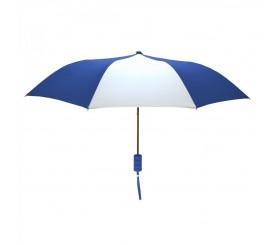 Promotional Royal & White Mini 42 inchArc Logo Umbrellas