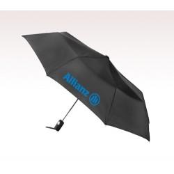 Personalized Black 42 inch Arc Totes Auto- Open Folding Umbrellas