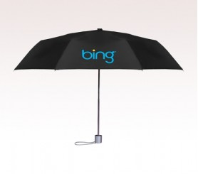 Personalized Black 42 inch Arc Trendy Telescopic Folding Umbrellas