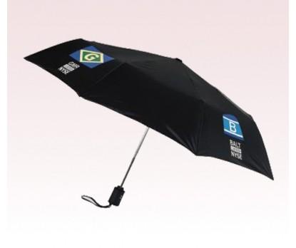 Personalized Black 43 inch Arc Executive Mini Fold Umbrellas