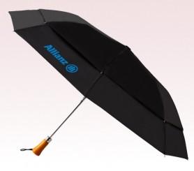 Personalized Black 44 inchArc Auto Open Folding Umbrellas