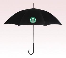 Personalized Black 46 inch Arc Auto Folding Umbrellas